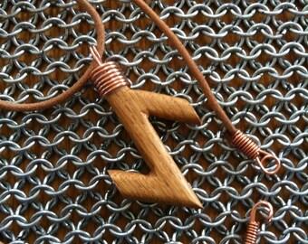 Runic style pendant - Eiwaz
