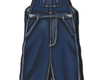 Women's Bib Overalls, 4 different pattern sizes