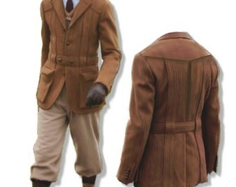 Norfolk Jacket and knickerbockers for men, large size (50) Pdf pattern, A4 pages