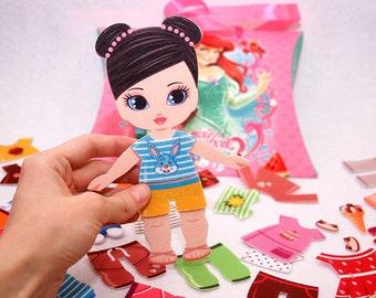 Handmade Felt Dressed Up Doll