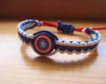 Captain America Inspired Bracelet