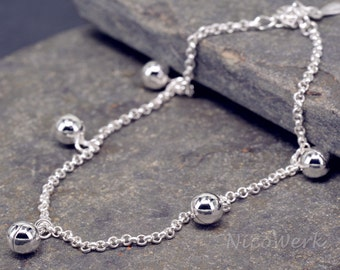 Anklet silver Bell anklets 925 ladies jewelry gift SFK108