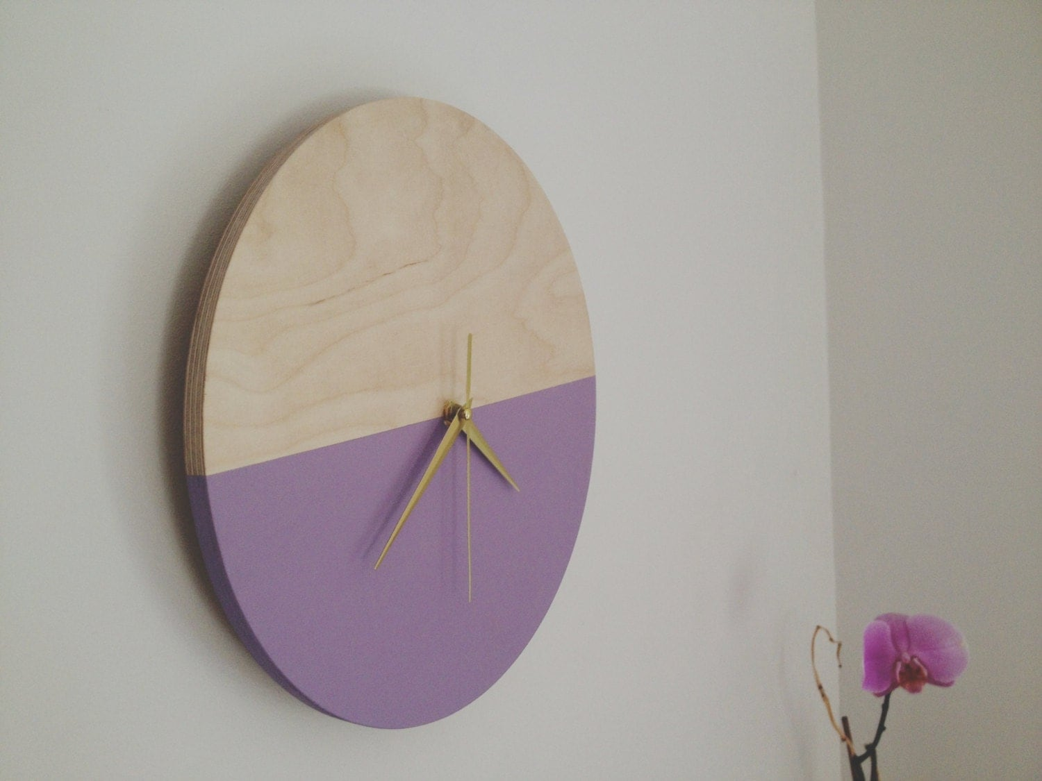 Wooden wall clock Minimalist clock Wall Decor Unique clock