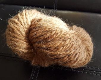 Hand spun tan Alpaca wool