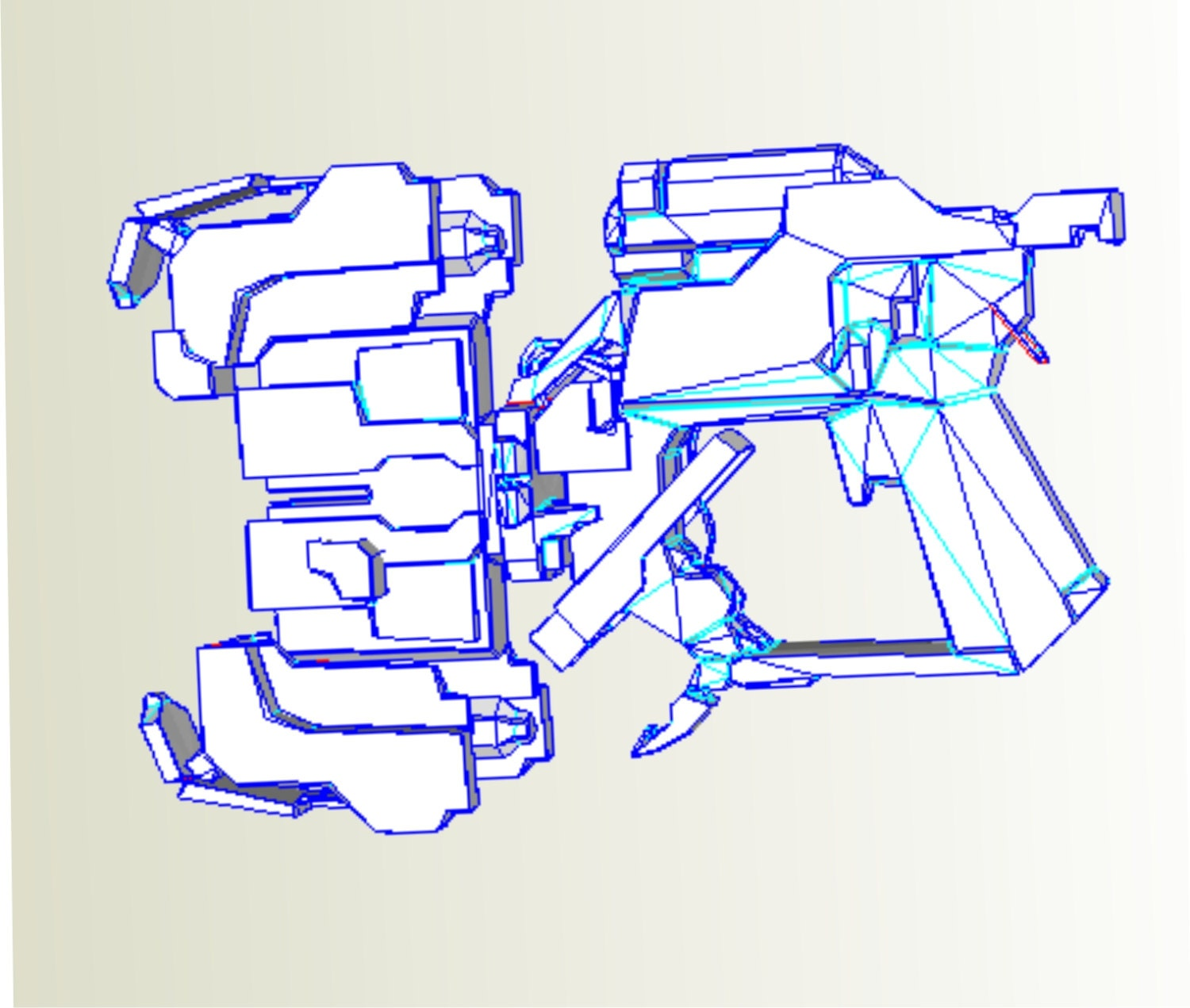Dead Space Plasma Cutter Replica Pattern For Pepakura Diy