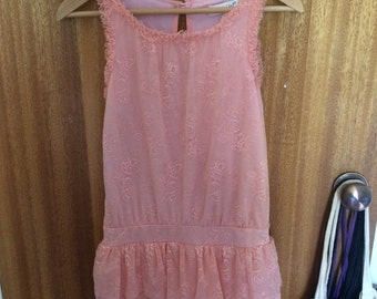 Pretty pink lacey low-waisted dress