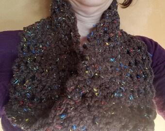 Chunky Choc Lace Cowl