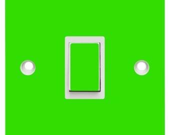 Coloured light switch skin - Vinyl Decal Sticker - Kids light switch sticker decal