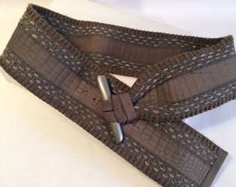 Vintage Wrap Belt, Fabric Belt