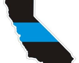 California Thin Blue Line Decal / Sticker #144