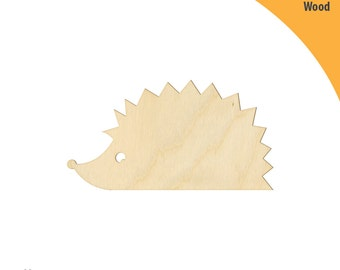 Hedgehog Wood Cutout Shape, Laser Cut Wood Shapes, Crafting Shapes, Gifts, Ornaments Hedgehog