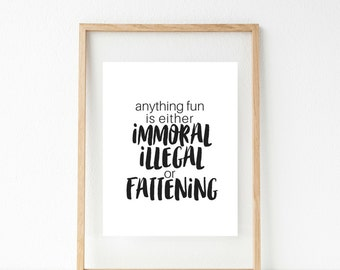 Anything Fun - Printable Wall Decor - Instant Download - Art Printable - Typographic Print - Printable Quote - Digital Download - Home Decor