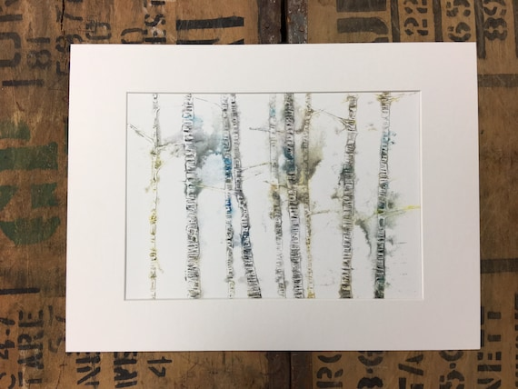 Birch Tree Print / Silver Birch Tree / Mounted Print / Printed Trees / White Birch Tree / Gift Nature Lovers / Birch Tree Decor