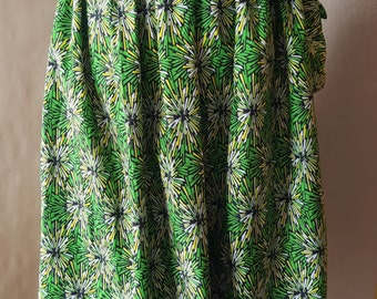 African Print (Ankara) Maxi Gathered Skirt