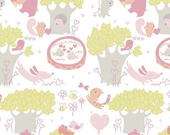 CLEARANCE - Free Spirit Fabrics - Posies - Sweetheart by David Walker - Juvenile Fabric