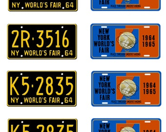 scale model 1964 1965 New York World's Fair license plates