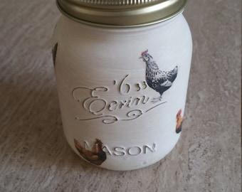 Mason Jar Kilner Jar Country Hen