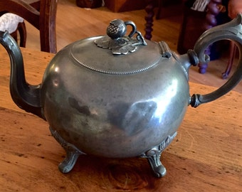 Antique English Pewter Teapot