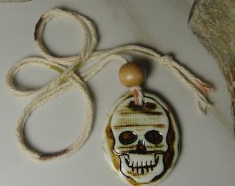 FREE SHIPPING SKULL Essential Oil Diffuser / Aromatherapy Necklace / Essential Oil Diffuser Pendant/ Skull necklace oil / Skull pendant #104