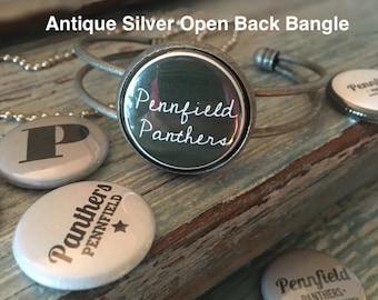 Pennfield Antique Silver Open Back Bangle Bracelet