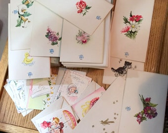 14 Vintage All Occasion Cards in Original Box with Envelopes 1950 Era