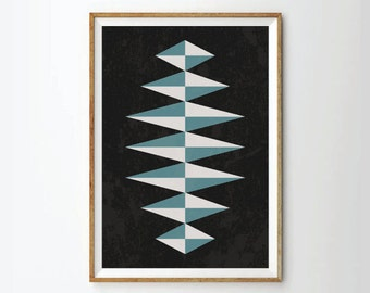 Poster, retro style, retro Print Poster, Geometric Art Print, Geometric poster, Abstract Art Print, Abstract Posters