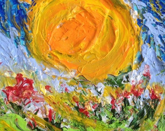 Original Abstract Art/Mixed Media Painting - Sun Kissed