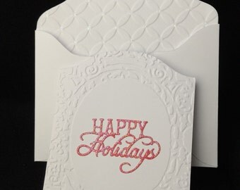 Happy Holidays Card & Envelope - Qty 1 ea
