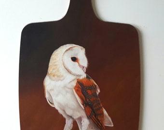 Barn Owl - chopping board