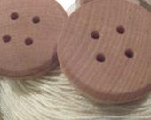 Handmade OMG wood buttons, 2in diameter