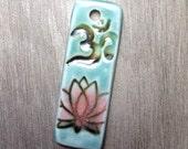 Skinny Om Lotus Pendant Seafoam