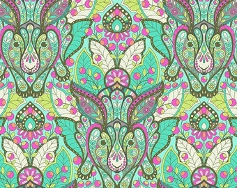 Tula Pink Slow and Steady The Hare in Strawberry Kiwi Free Spirit cotton quilt fabric - fat quarter