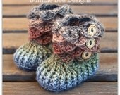 Crochet Baby Booties That Stay On Baby Slippers rainbow 0-6 months merino wool baby