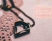 necklace: shine like a diamond brass 22 inch necklace
