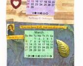 2016 Calendar, wall hanging 2016 calendar, OOAK 2016 calendar,Calendar, new year calendar, 2016,quotes about time,2016 ,time quotes,New year