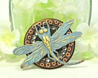 Dragonfly Brooch Dance of the Blue - Dragonfly Pin - Dragonfly Jewelry - Gift for Nature Lover