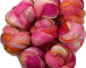 Cupcake -- mini batts (2.1 oz.) organic polwarth wool, bamboo, tencel.