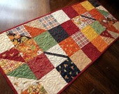 Quilted Table Runner Fall Charmer with Welcome Fall Fabric handmade Autumn Home Decor in Patchwork, Autumn Home Decor, Fall Decor, Leaves