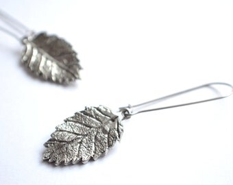 Autumn - Silver Leaf Statement Earrings
