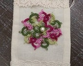 Hand Tatted Muslin Gift Bag