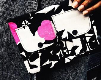Bridesmaid Gift, Pink Rose Tree Wristlet Wallet, Clutch Wristlet, iPhone Wristlet, Zipper Wallet