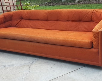 Long Mid Century Hollywood Regency Tufted Back Bohemian Directional Design Sofa by Sedgefield