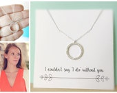 Wedding Jewelry, Stepmom Gift, Grandmother Gift, Gift for Aunt, Friendship Gift, Gift for Cousin, Diamond CZ Necklace, Eternity Circle