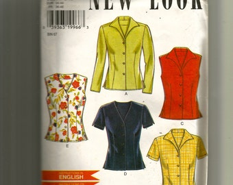 New Look Misses' Blouses Pattern 6598