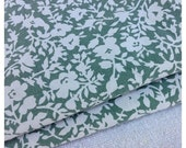 30%OFF SUPER SALE- Shabby Chic Floral -Reclaimed Fabric-Dusty Green