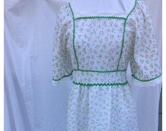 30% OFF SUPER SALE- Flower Child Dress-Vintage Maiden Dress