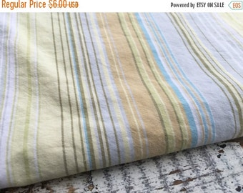 30% OFF SUPER SALE- Earthy Striped Fabric-Reclaimed Bed Linen Fabric-