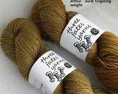 arthur - aurai fingering weight merino yak nylon sock yarn, dyed to order