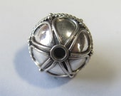 MS NEW Bali Sterling Beads (2) with Wire Teardrops 13mm Fair Trade