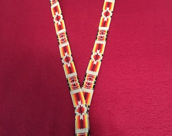 Lanyard with Native American print